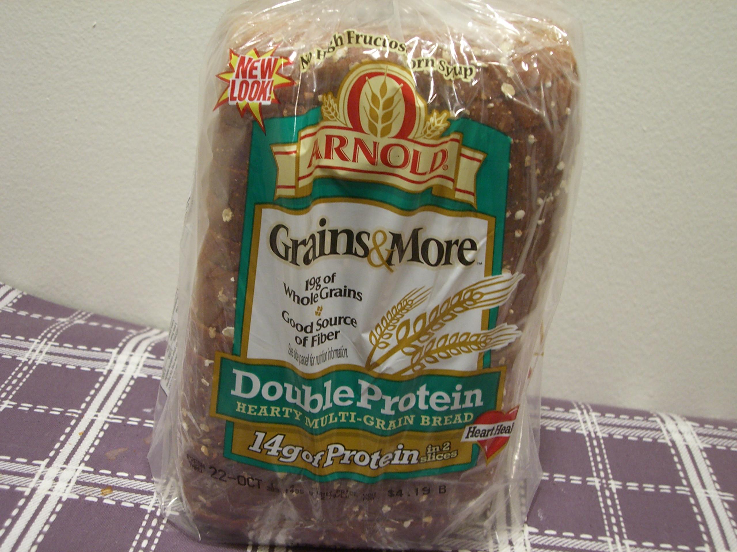 Double Protein Hearty Multi-Grain Bread. Description: